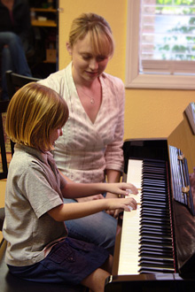 Student in Piano Lesson